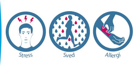 Årsager til eksem tre cirkler - stress, sved, allergi