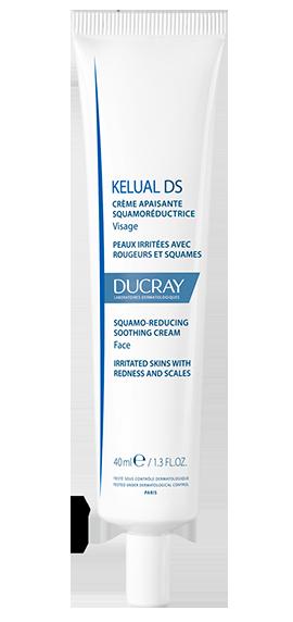 En tube Kelual DS creme til skæl, eksem rødme og kløe i ansigt