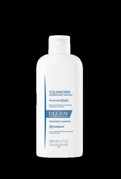 En flaske Squanorm shampoo til skæl