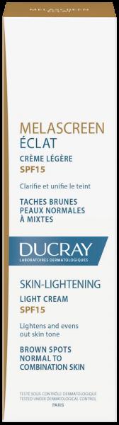 Confezione Melascreen Éclat Crema leggera SPF15 | Ducray